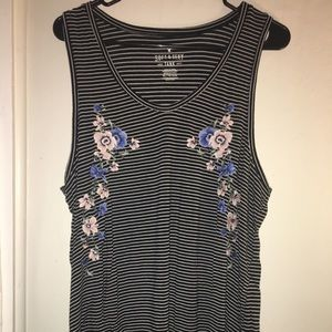 AEO Soft and Sexy Favorite Tank Embroidered